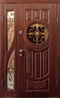 TIRAS DOOR Металические двери производства ПМР Д-32   (3 стекла)