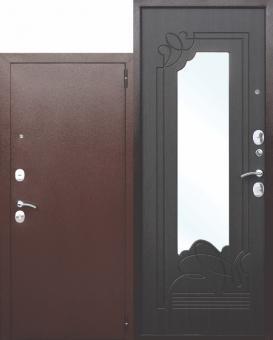 Входная бронированная дверь с зеркалом Ferroni Ampir полотно 6 см