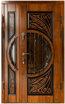 TIRAS DOOR Металические двери производства ПМР  Д-16+ Vзолотой дуб
