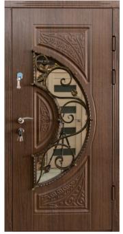 TIRAS DOOR Металические двери производства ПМР  Д-51 V дуб темный