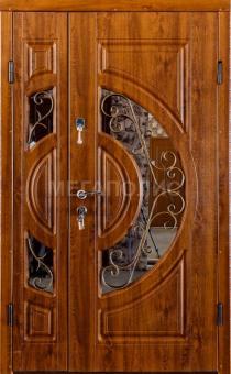 TIRAS DOOR Металические двери производства ПМР  Д-33 Дуб золотой  3 стекла