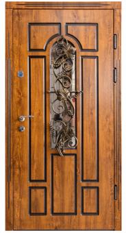 TIRAS DOOR Металические двери производства ПМР  Ф-20 V Дуб золотой (патина)