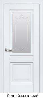 Остеклённая межкомнатная дверь Новый стиль Elegant Image P2 ML2(с молдингом)
