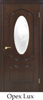 Межкомнатная дверь Омис Классика натуральный шпон Оливия СС+КР