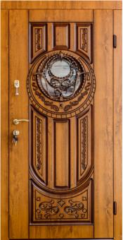 TIRAS DOOR Металические двери производства ПМР Д-32 Стекло/патина