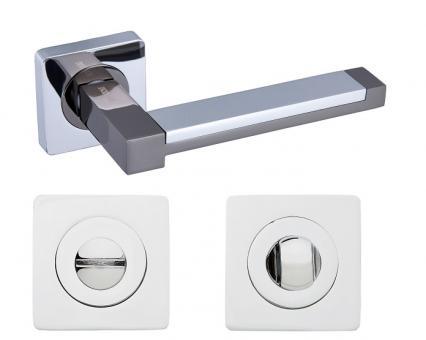 Комплек дверных ручек с поворотником Gavroche Platinum Pt-Z3+Z3-WC