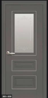 Остеклённая межкомнатная дверь Новый стиль Elegant Status Антрацит (с молдингом)