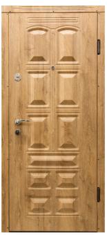 Металические двери производства ПМР     Н-Шоколад+3D  ПВХ-Спил Медовый  2-замка(Kale)