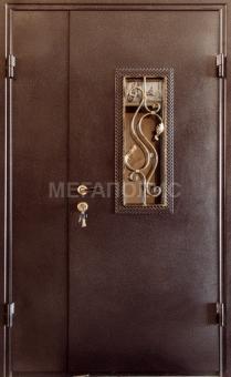 TIRAS DOOR Металические двери производства ПМР метал Н-5 стекло